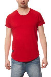 Vokuhila T-Shirt Herren Spartans History Rot 001