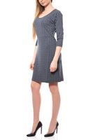Aniston Kleid knielanges Jerseykleid Wickelkleid Blau 001