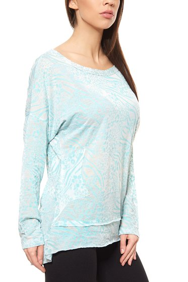 Druck-Shirt Damen Blau B.C. by heine