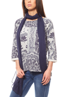 B.C. Best Connections by heine Sweater Schal Damen Grau