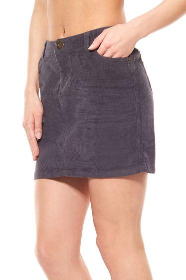 Cord mini skirt short gray FLASHLIGHTS