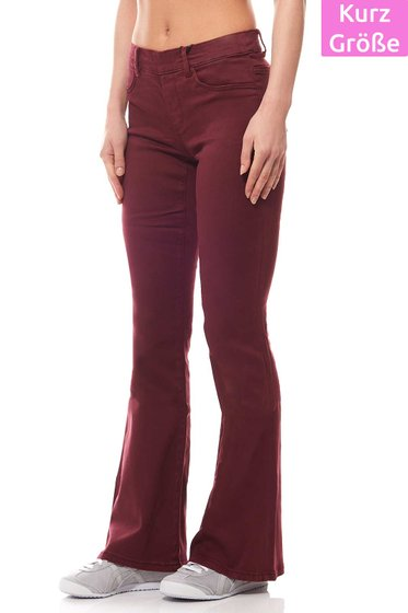 Stretchhose Damen Bordeaux Kurzgröße Laura Scott