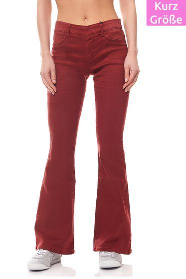 Pantalon stretch Mesdames Rouge Taille courte Laura Scott