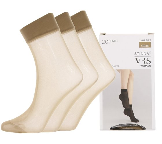 Perlon Stockings Brown 20 DEN 3 Pack VRS