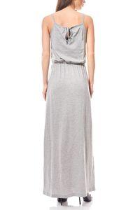 VERO MODA Maxikleid Jerseykleid Enjoy Grau – Bild 4
