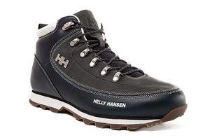 Helly Hansen Naturleder Trekkingschuhe The Forester Navy Schuhe – Bild 1