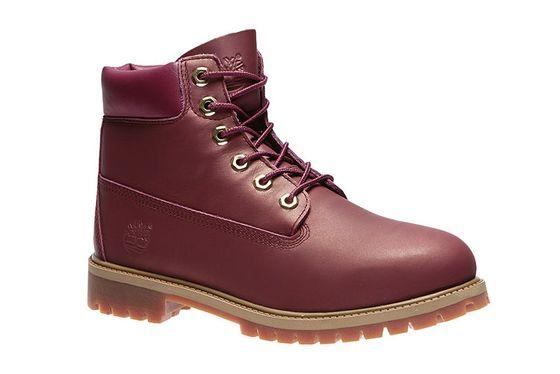 Timberland 6 Inch Premium Junior Echtleder-Boots Rot