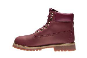Timberland 6 Inch Premium Junior Echtleder-Boots Rot Schuhe – Bild 4