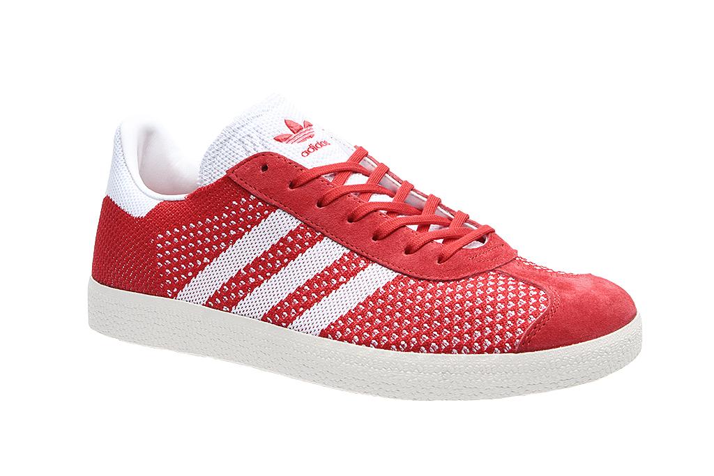 adidas Gazelle Primeknit Herren Turnschuhe Sneaker Rot