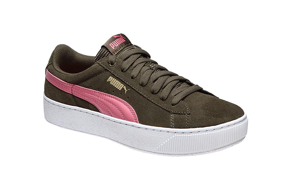 Detalles de Puma Sneaker vikky Platform zapatillas de deporte verde ver título original