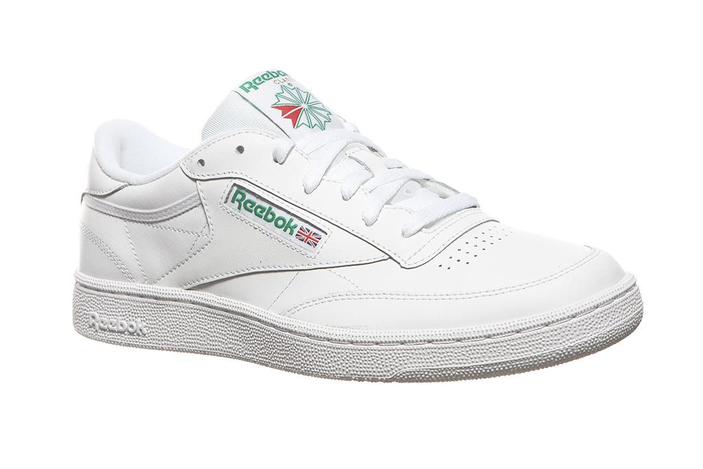 3622a63d429 Reebok Classic Echtleder-Sneaker Herren Club C 85 Weiß