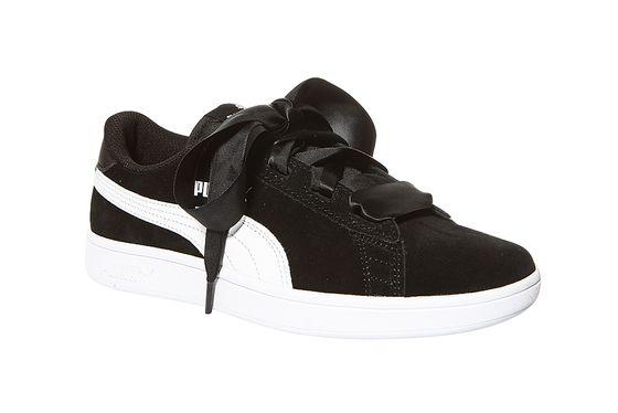 PUMA Sneaker Smash v2 Ribbon Junior Turnschuhe Schwarz Schuhe