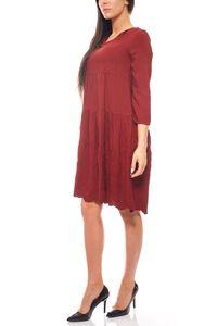 romantisches Kleid Stickereikleid Knielang Jerseykleid Bordeaux rick cardona – Bild 2