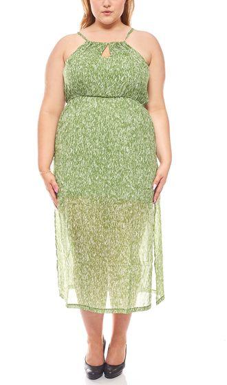 Print dress summer dress Large sizes ladies green heine
