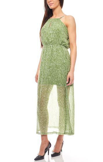 Transparentes Sommer-Kleid mit Unterkleid Grün heine