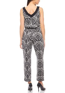 Overall Graphic-Look Damen Jumpsuit Schwarz B.C. Best Connections – Bild 4