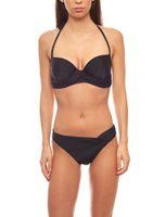 Push-Up Bikini mit Zierbändern C-Körbchen Schwarz heine ausgefallene Bademode – Bild 1