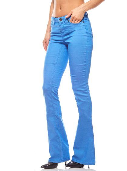 Stretchhose Sommerhose Damen Jeans Blau AjC