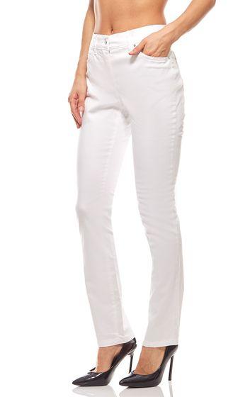 Pantalon skinny femme court taille blanc ashley brooke