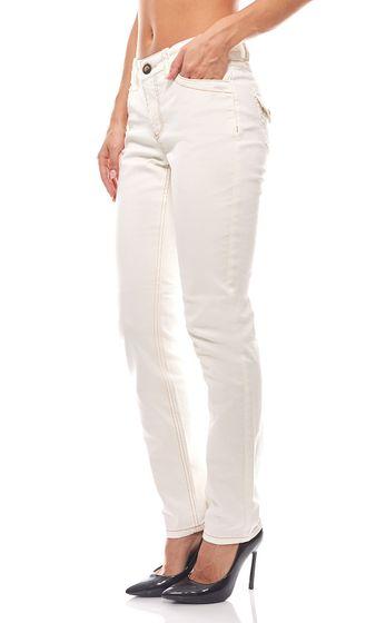 Trend Jeans Damen Slim Fit Travel Couture Weiß