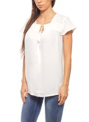 Blouse Summer Slim Fit White rick cardona