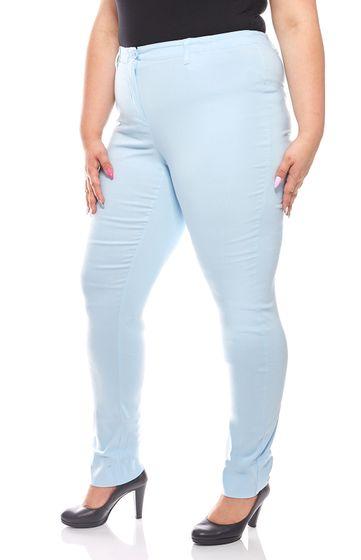 sheego Womens Light Stretch Pants Large Sized Longsleeve Light Blue