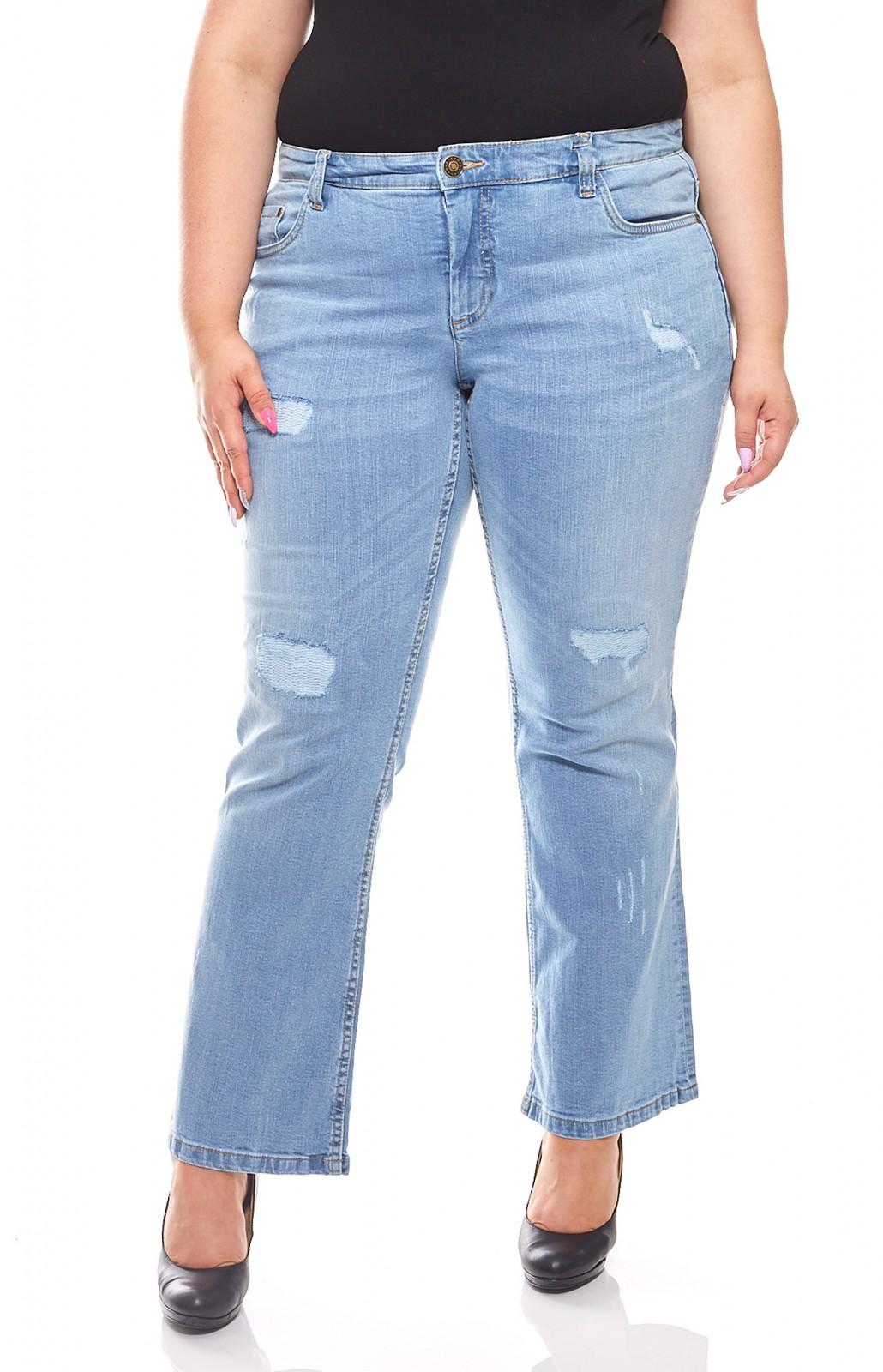 3befa590e5fc sheego Damen Stretch-Jeans Used-Look Langgröße Große Größen Blau