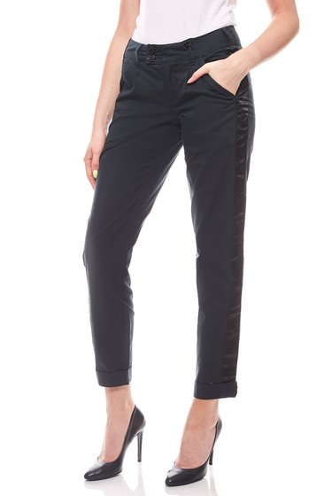 neighborhood Damen-Chino im Biker-Look Grau