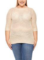 Damen 3/4 Pullover Große Größen Beige ashley brooke