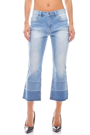 7/8 Kick Flare Jeans Kurzgröße B.C. Best Connections Blau