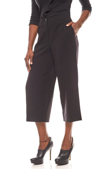 ashley brooke luftige Damen-Culotte Schwarz