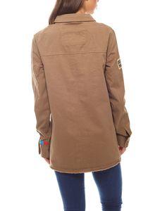 geknöpfte Damen Long-Jacke im Militär-Style Khaki Aniston – Bild 4