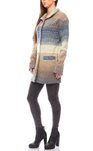 PATRIZIA DINI kuschelige Damen Woll-Jacke Mehrfarbig 001