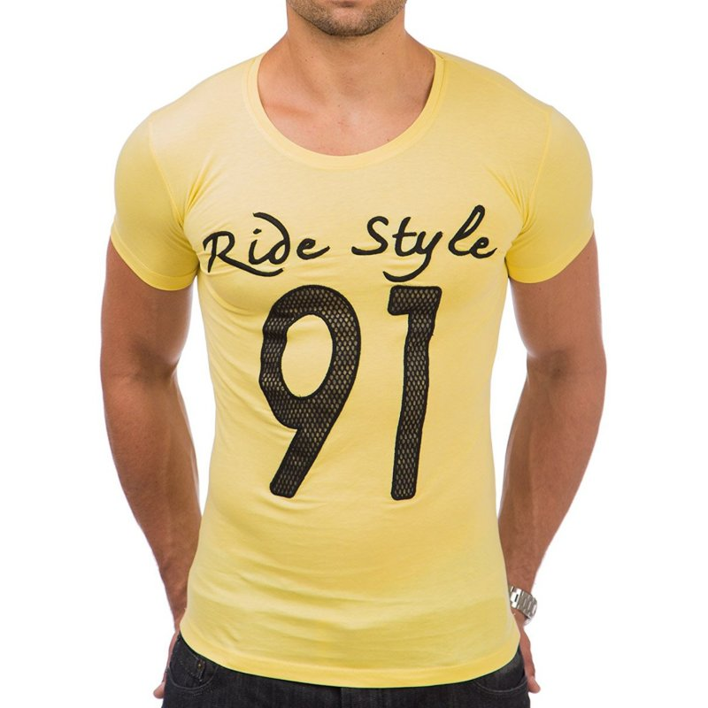 30fe1ac3ad0e72 Tazzio Fashion Herren T-Shirt Gelb – Bild 2