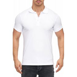 Tazzio Fashion Herren Poloshirt Basic Weiss 001