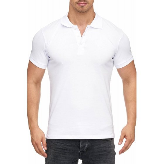Tazzio Fashion Herren Poloshirt Basic Weiss