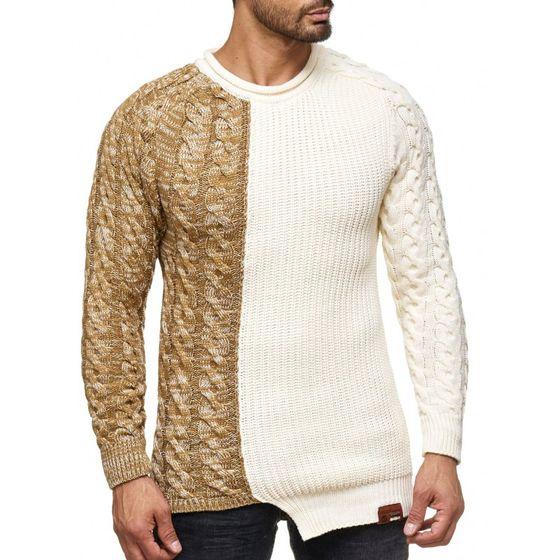 Tazzio Fashion Herren Pullover Ecru