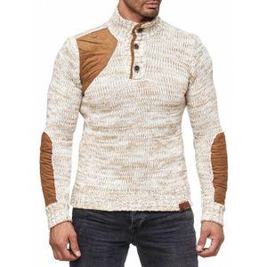 Tazzio Fashion Herren Pullover Ecru 001