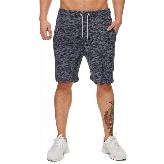 Tazzio Fashion Herren Sweat Shorts meliert Navy