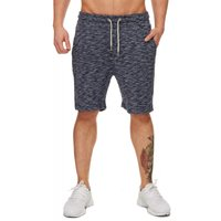 Tazzio Fashion Herren Sweat Shorts meliert Navy – Bild 1