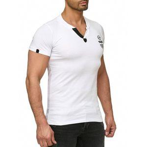 Tazzio Fashion Classic Herren T-Shirt Weiss – Bild 2