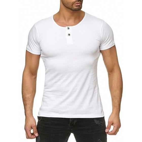 Tazzio Fashion Classic Herren T-Shirt Weiss