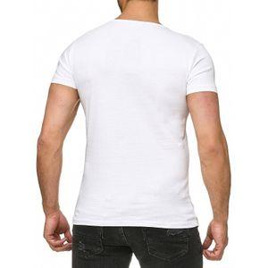 Tazzio Fashion Classic Herren T-Shirt Weiss – Bild 3