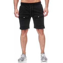 TAZZIO Herren Sweat Short Schwarz