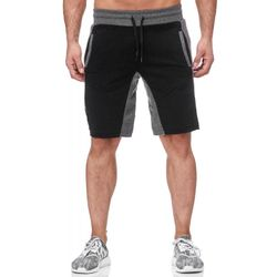 Tazzio Fashion Herren Sweat Short Schwarz