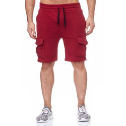 Tazzio Fashion Herren Sweat Short Bordeaux