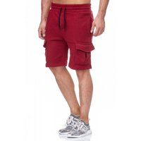 Tazzio Fashion Herren Sweat Short Bordeaux – Bild 3