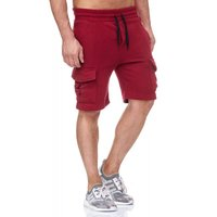 Tazzio Fashion Herren Sweat Short Bordeaux – Bild 4
