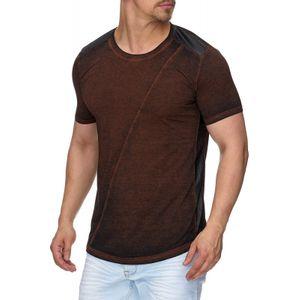 Tazzio Fashion Herren T-Shirt mit Ziernaht Bordeaux – Bild 2