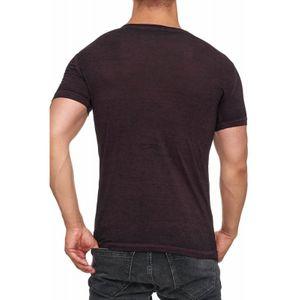 Tazzio Fashion Herren T-Shirt mit Frontprint Fuchsia – Bild 3
